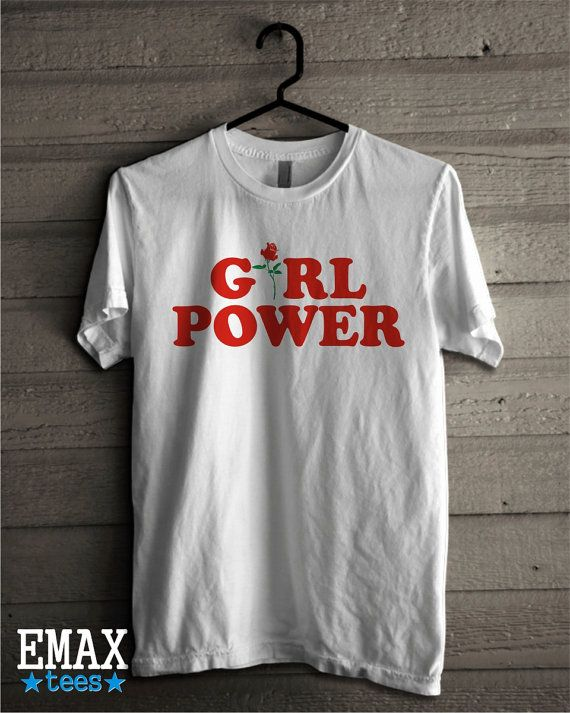 Girl power famous t-shirt, feminsim tee with slogan Girl Power, top trending shirt from Emax Tees. Unisex shirt for street…