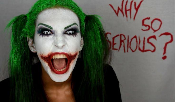 Tutorial maquillaje joker mujer. Joker girl makeup