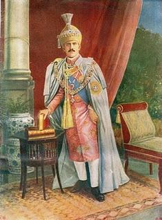 Nizam Mir Osman Ali Khan of Hyderabad-  Painting.