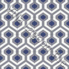 Hexagonal Skyline geometric cuban tile floors