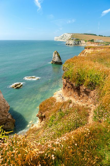 Isle of Wight - Freshwater Bay by Deirdre Gregg