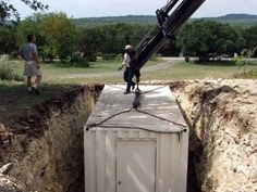 DIY on how to put a shipping container underground http://www.youtube.com/watch?feature=player_embedded=A3EAJex1RVo