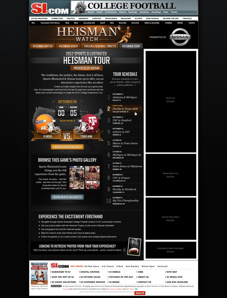 Sports Illustrated Heisman Tour by Ines Major