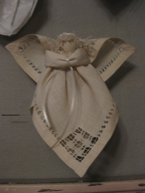 Handmade Vintage Linen Angel by sentimentality on Etsy, $18.00