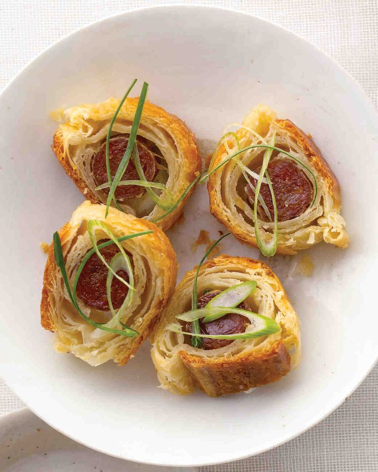The only thing more tempting than hot dogs under wraps? Lap cheong in puff pastry, with 5-alarm mustard for dipping.