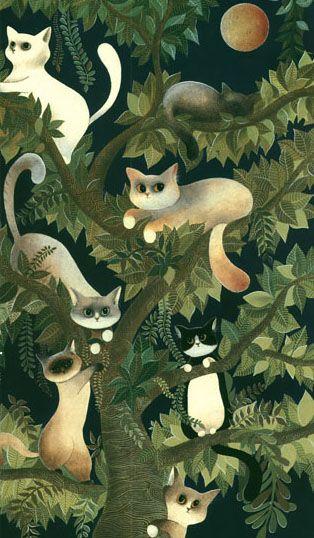 """""""Evelyne Nicod"""" Uma árvore de gatos! D+!"""