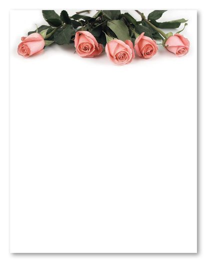 stationery clip art | Pink Rose Petals Wedding Stationery, 4729