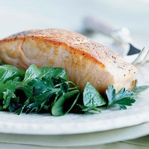 awesome Crispy Salmon with Herb Salad Recipe | MyRecipes.com