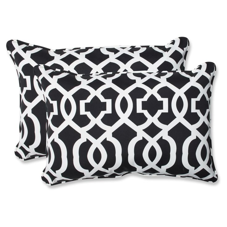 Pillow Perfect New Geo Oversized Throw Pillow - Set of 2 - 543338