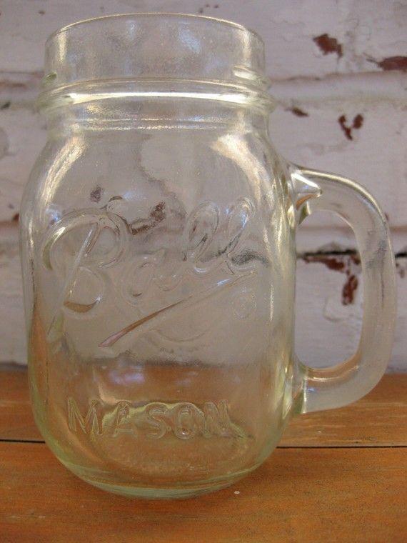 Mason Jar Mugs Ball Jars Retro Metal Dining Sets Cdc