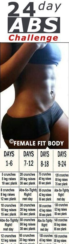 This challenge called Brazen Fit 24 Day Ab Workout is created by a group of ladies who exercise together