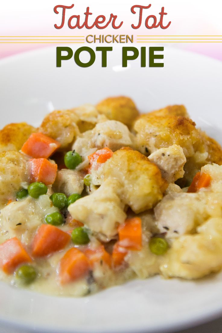 Molly Yeh's tater tot chicken pot pie is the ultimate comfort food mash-up: Veggies, protein, and carbs in one warming dish that can feed a crowd.