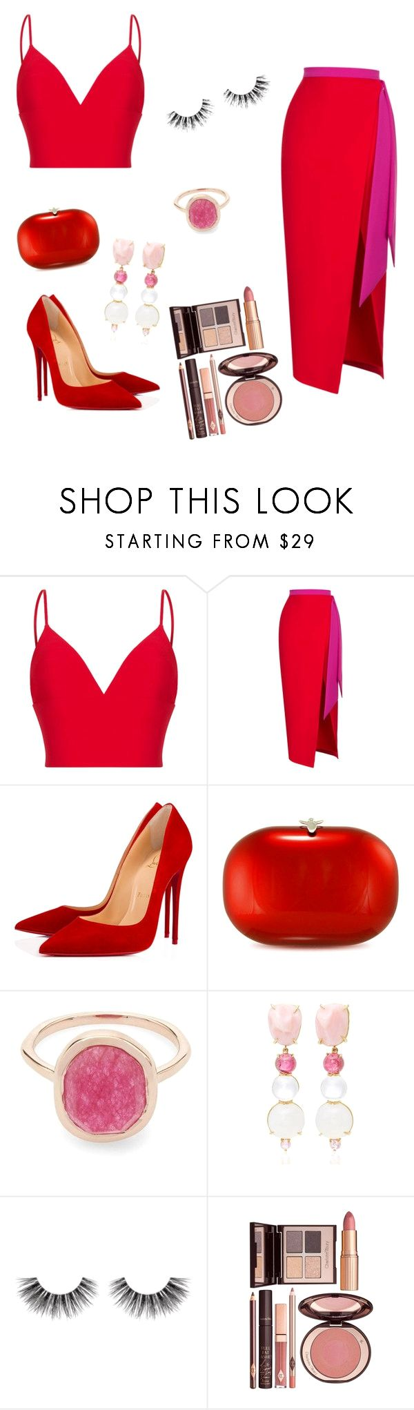 """""""Sem título #57"""" by gabigiandu ❤ liked on Polyvore featuring Rasario, Christian Louboutin, Jeffrey Levinson, Liberty, Daria de Koning, Velour Lashes and Charlotte Tilbury on the lookout for limited offer,no tax and free shipping.#shoes #womenstyle #heels #womenheels #womenshoes  #fashionheels #redheels #louboutin #louboutinheels #christanlouboutinshoes #louboutinworld"""