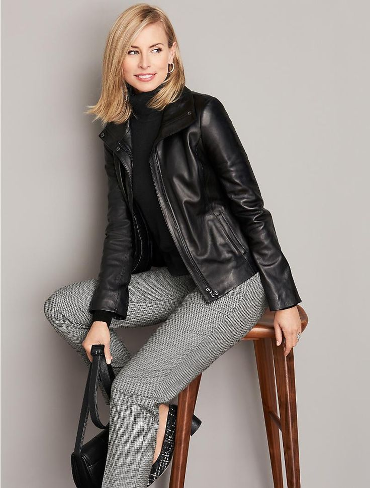 Leather Jacket - Talbots - SB Sept 2016