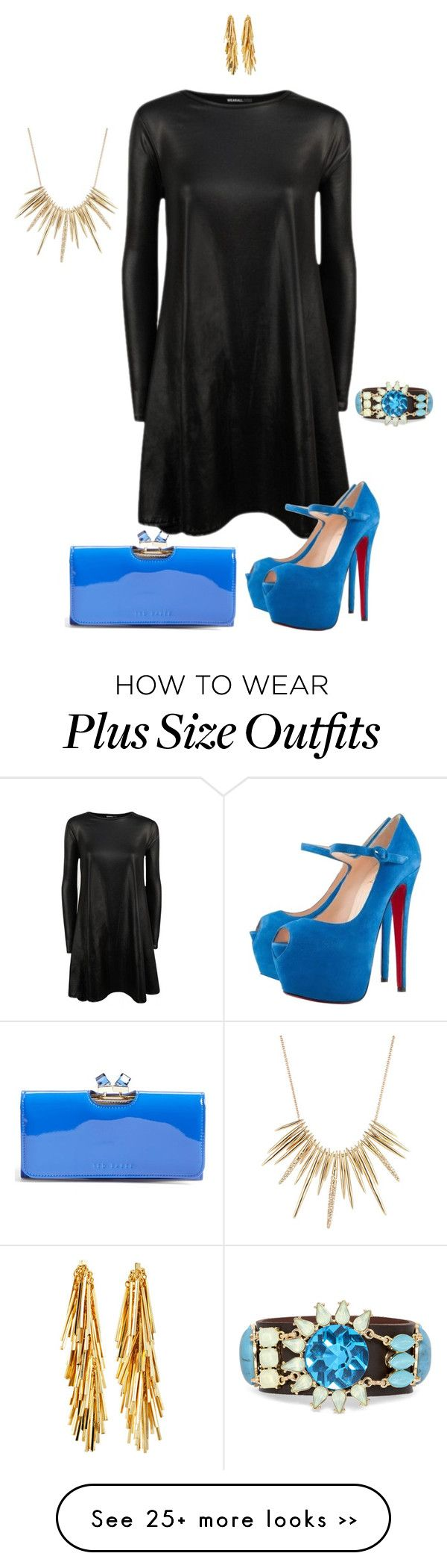 """""""Got the blues- plus size"""" by gchamama on Polyvore"""