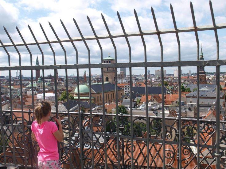 Uitzicht over Kopenhagen vanaf de Ronde Toren.