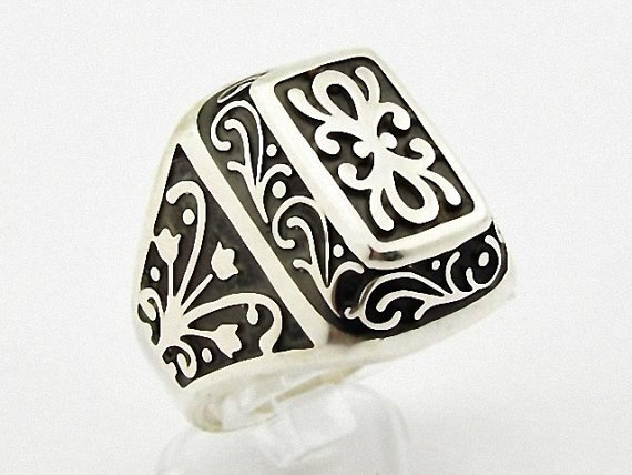 925 Sterling Silver  Ring Kurtlar Vadisi Polat by MASTERofSILVER, $46.90