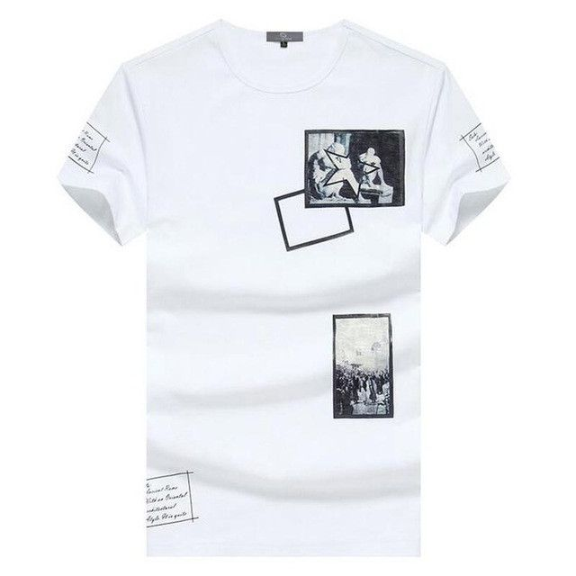 HEE GRAND Men Short Sleeve T- Shirts 2017 New Arrival O-Neck Printing Decoration 100% Cotton Material Slim Men Top Tees MTS1949