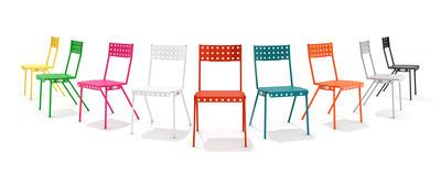 Chaise empilable Bistrot / Métal Blanc - Meccano Home