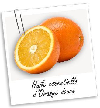HE Orange:  calmante et rééquilibrante; tonique de l'épiderme; tonique digestif; propage bonne humeur et optimisme; antiseptique aérien; en diffusion ou en massage, elle aide à lutter contre l'insomnie