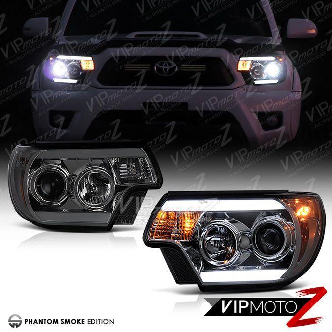 #2012-#2015 #Toyota #Tacoma #TRIBAL #Titanium #Smoke #LED #LightBars #Headlight #TRD #VIPMOTOZ