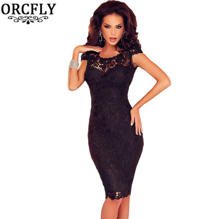 ORCFLY Dresses 2016 Robe Moulante Black Lace Sexy Open Back Chained Party Dress Summer Women Clothing 61093 Vestiti Donna Estivi *** Click image for more details.