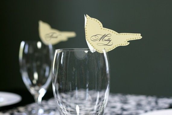 Love Bird Place Cards set of 50 by TimelessPaper on Etsy, $50.00