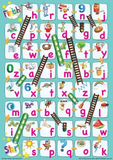 """""""Lowercase Alphabet Chutes & Ladders"""" Game from Super Simple Learning. #kindergarten #earlyelementary #ESL"""