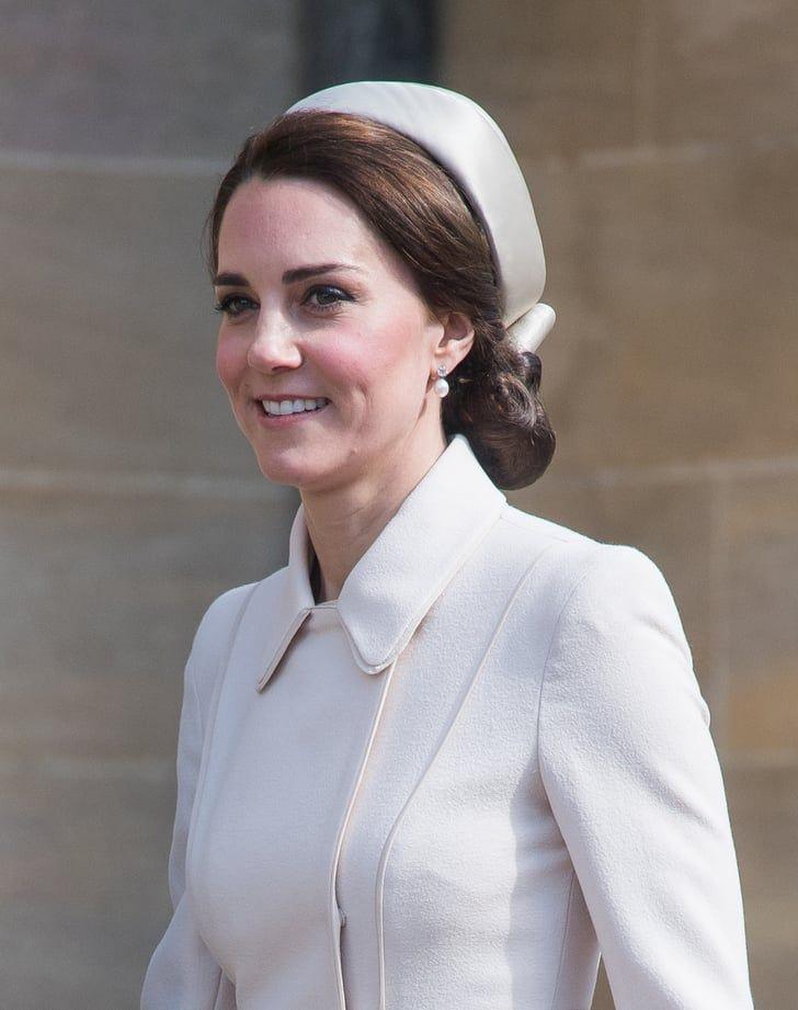 Kate Middleton Catherine Walker Coat Easter The Back Of Kate Middleton S Easter Hat Is All You Need To See