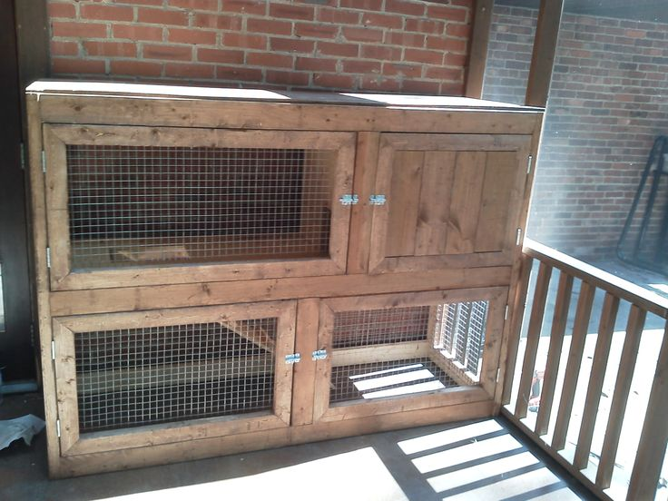 Rabbit and rabbit hutches on pinterest for How to make a rabbit hutch from scratch