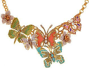 Joan Rivers Classics Collection Joan Rivers Lt. Ed. Crystal Butterfly Statement Necklace