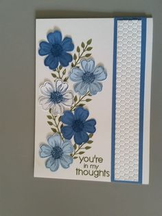 These 2 cards were created using Stampin' Up's Flower Shop stamp set and the coordinating Pansy Punch, and the leaf sprig on both cards is...