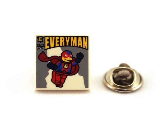 Everyday super hero everyman Tie Pin Tie Tack Pin Men's by Pinhero