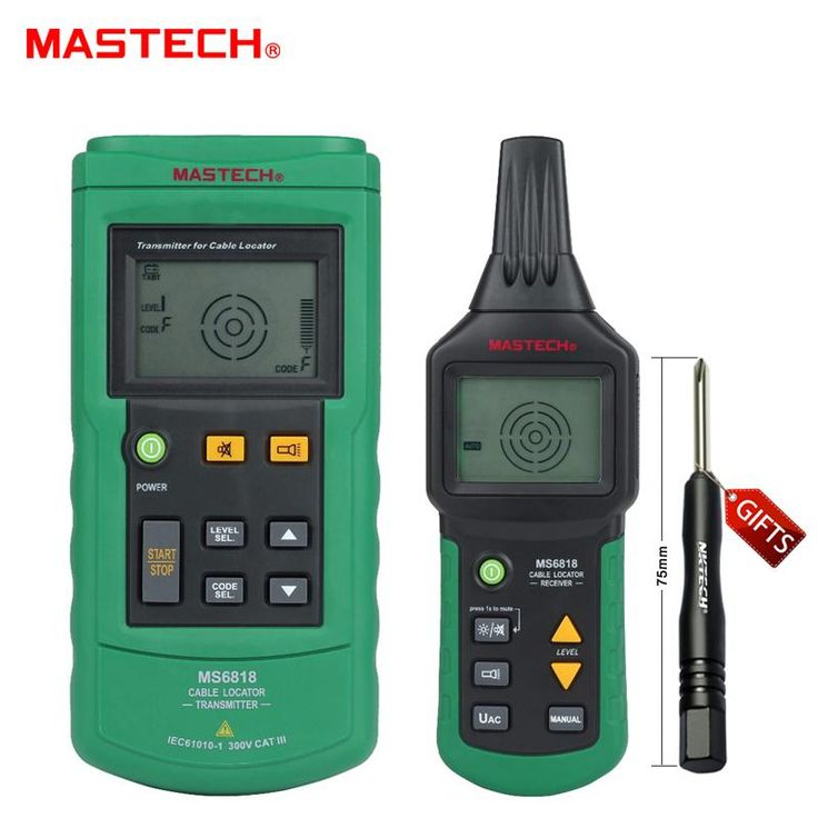 [Visit to Buy] Mastech MS6818 Portable Professional Wire Cable Tracker Metal Pipe Locator Detector Tester Line Tracker Voltage12~400V #Advertisement