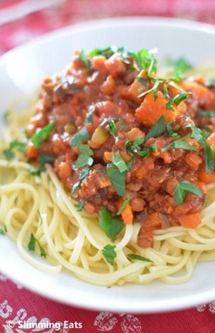 Lentil Bolognese | Slimming Eats - Slimming World Recipes