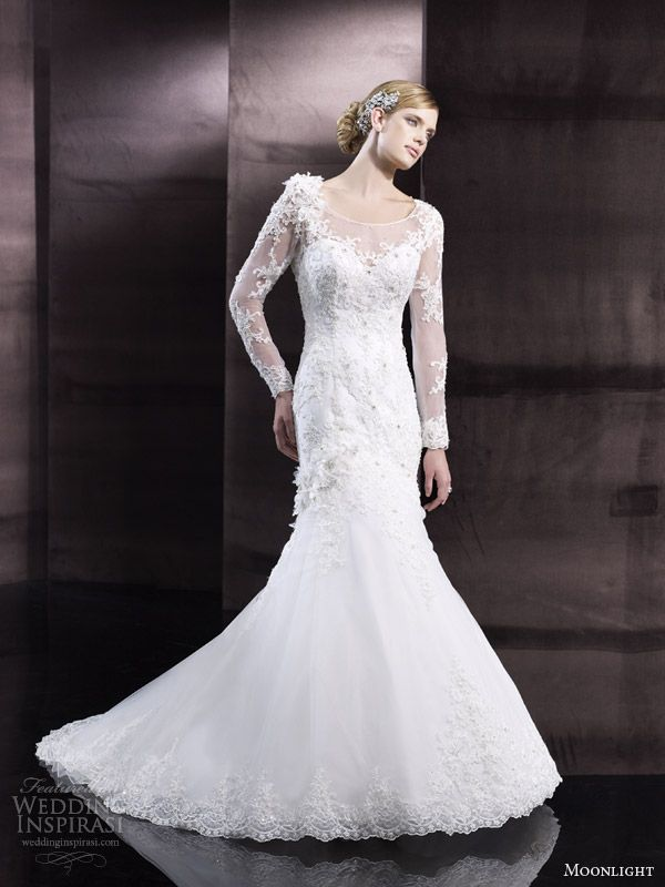 moonlight couture h1242 sping 2014 wedding dresses