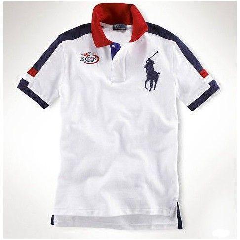 boutiques ralph lauren france! Polo Ralph Lauren particulière Custom-Fit Big Pony américaine ouverte Polo blanc