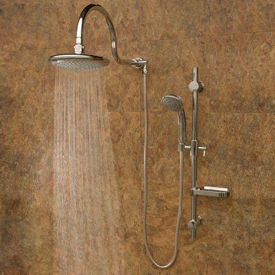 PULSE ShowerSpas 1019 Aqua Rain ShowerSpa Chrome Shower System at ATG Stores