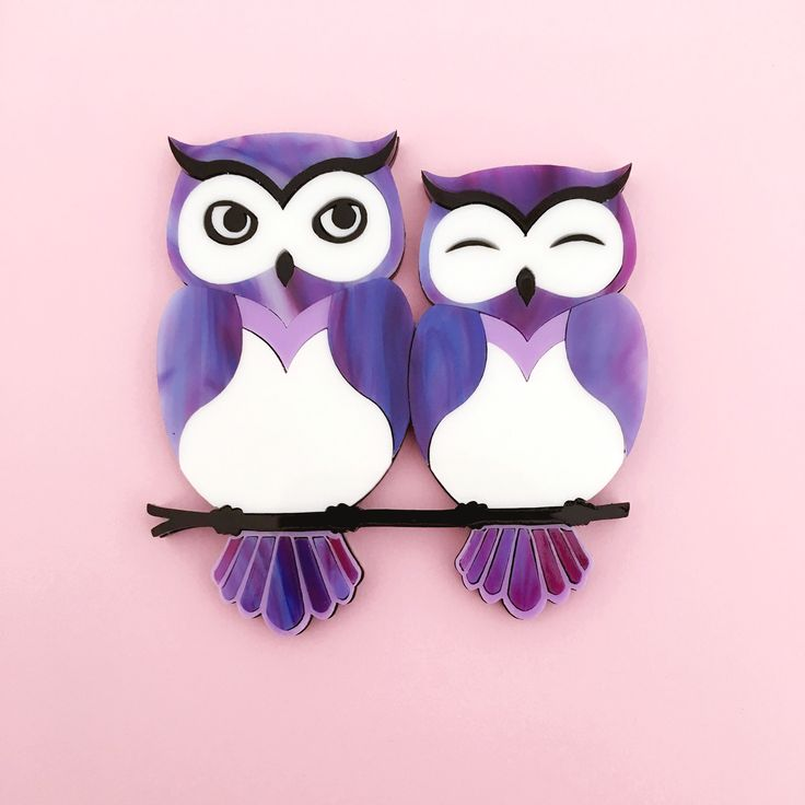 Dreamy Owls Brooch