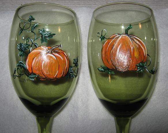I love painted wine Glasses