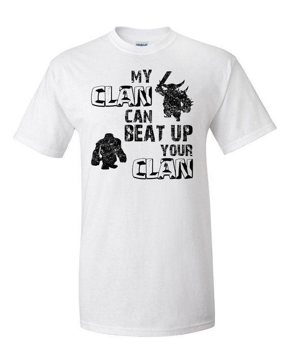 45 best clash of clans gift ideas images on pinterest for Order screen printed shirts