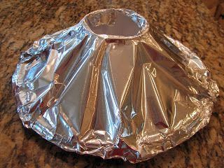 No sand Volcano...just a cup and a plate with tin foil.