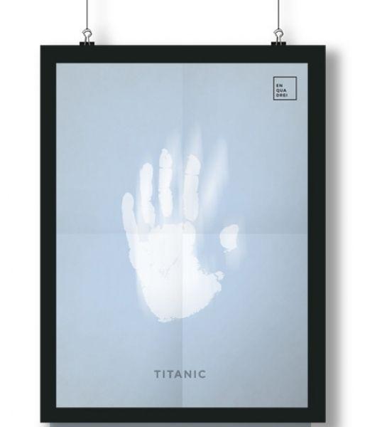 Pôster/Quadro minimalista  Titanic