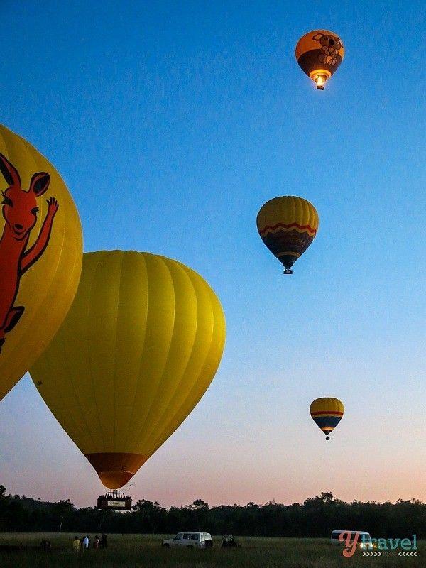 Hot Air Balloon over the Atherton Tableslands, Queensland, Australia