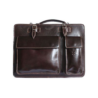 Ladies Dark Brown Italian Leather Briefcase/Work Bag(Medium Size) - RRP £74.99, our price - £59.99