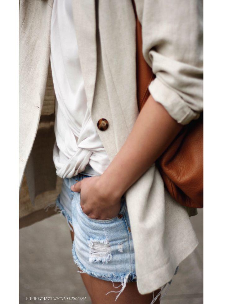 Over sized linen blazer