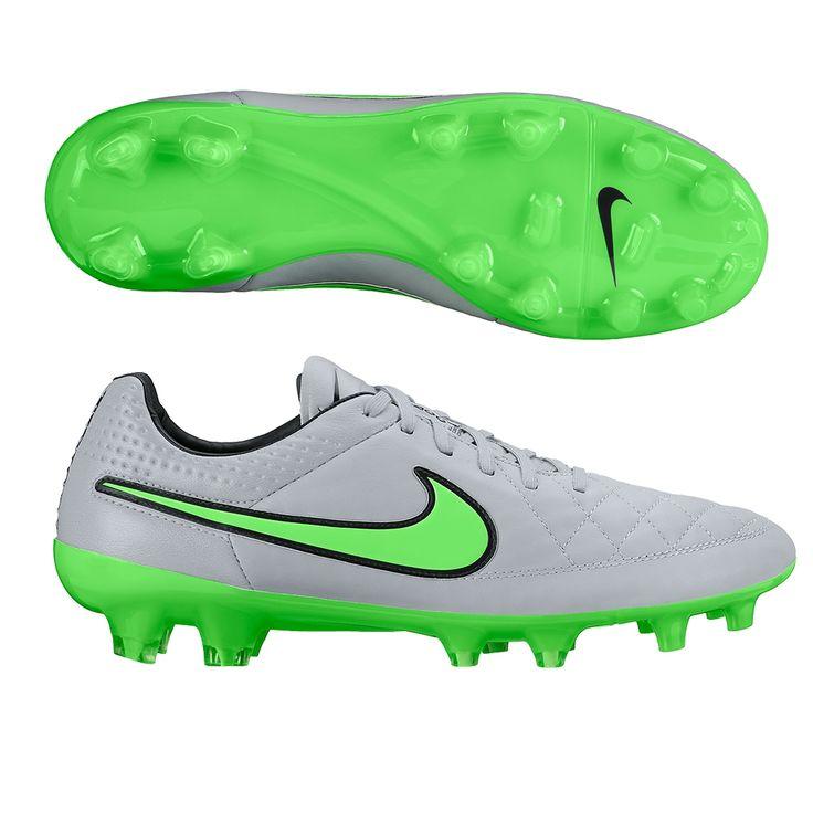 nike soccers shoes grey green