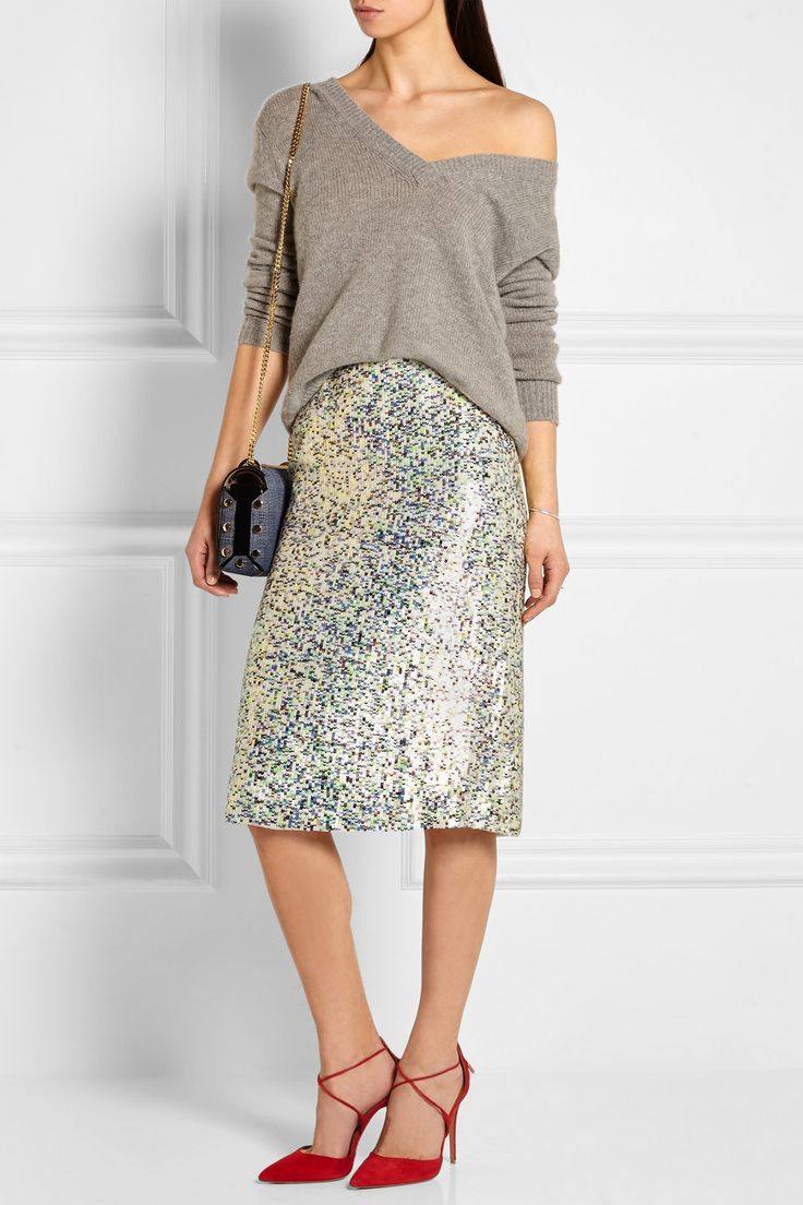 J.Crew | Collection sequined georgette skirt | NET-A-PORTER.COM