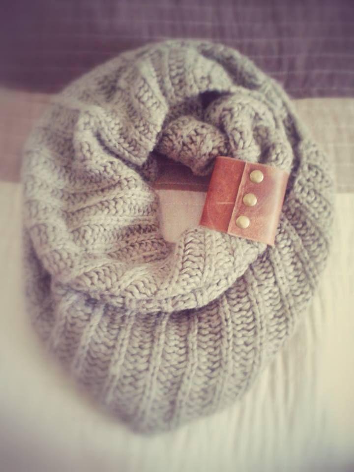 leather scarf cuff
