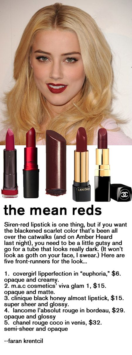 Need to work up the nerve to rock the dark red lipstick